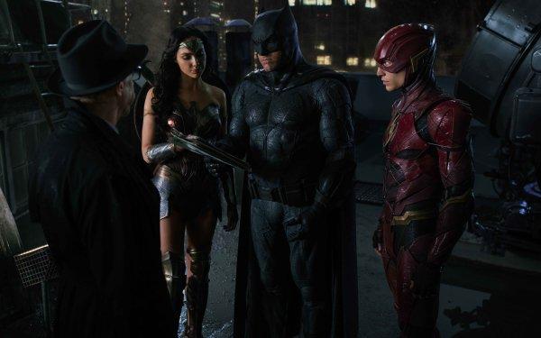 Movie Justice League Commissioner Gordon Flash Batman Ben Affleck Ezra Miller Gal Gadot Wonder Woman J.K. Simmons HD Wallpaper | Background Image