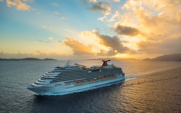 Vehicles Carnival Breeze Cruise Ships Cruise Ship Sunset HD Wallpaper | Background Image