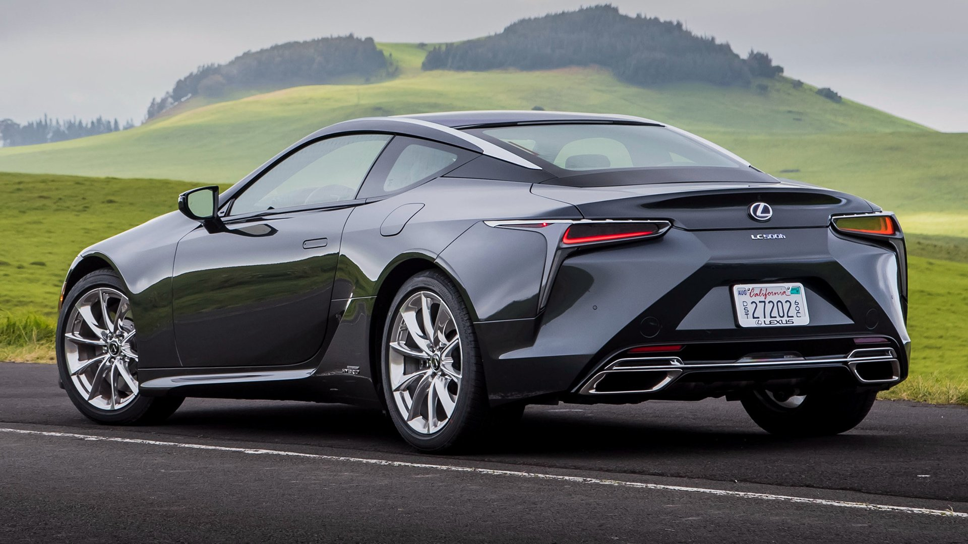 2018 Lexus LC 500h Hybrid Car HD Wallpaper