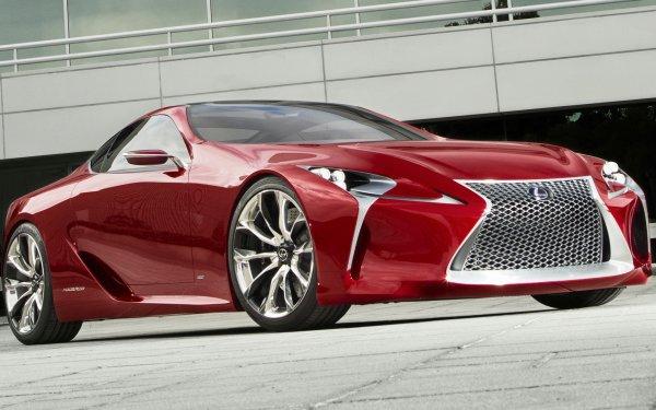 Véhicules Lexus LF-LC Lexus Concept Car Luxury Car Coupé Red Car Fond d'écran HD | Image