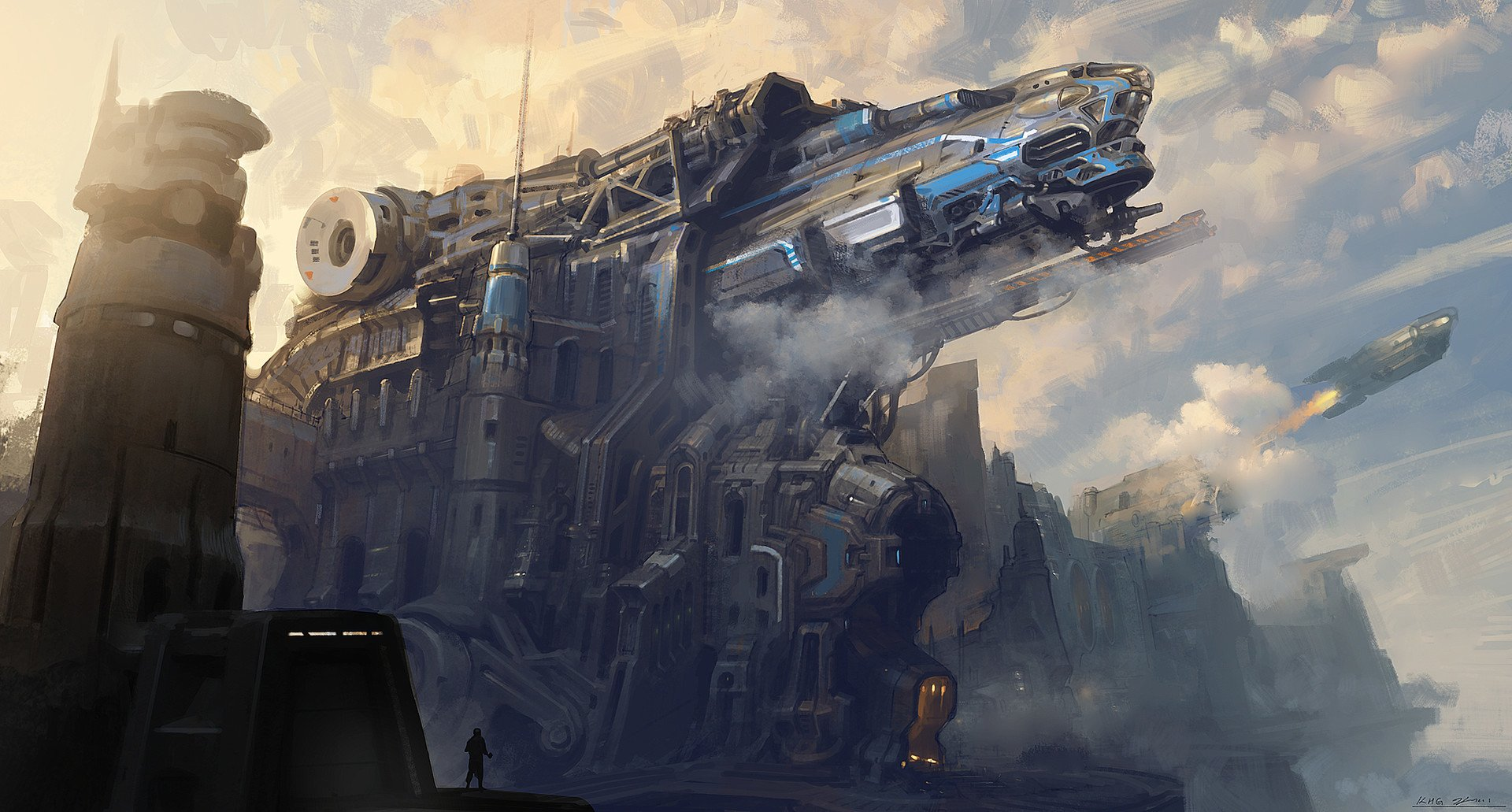 Sci Fi - Spaceship  Space Rocket Cannon Futuristic Wallpaper