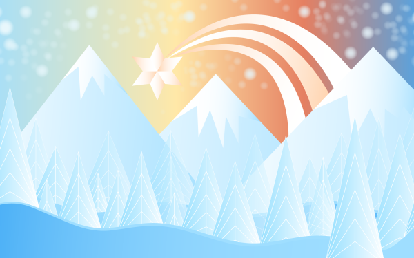 Artistic Mountain Winter Star HD Wallpaper | Background Image