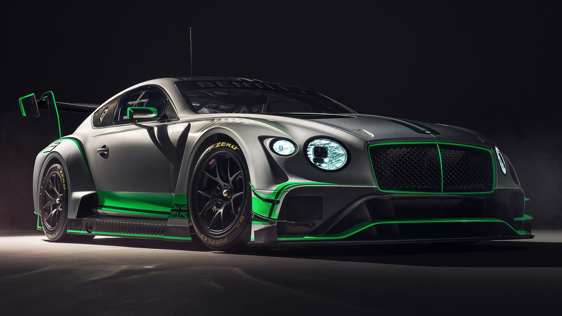 Vehicles - Bentley Continental GT3  Sport Car Race Car Silver Car Wallpaper