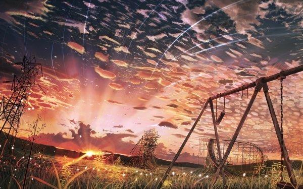 Anime Original Sunset Scenic Sky Cloud HD Wallpaper | Background Image