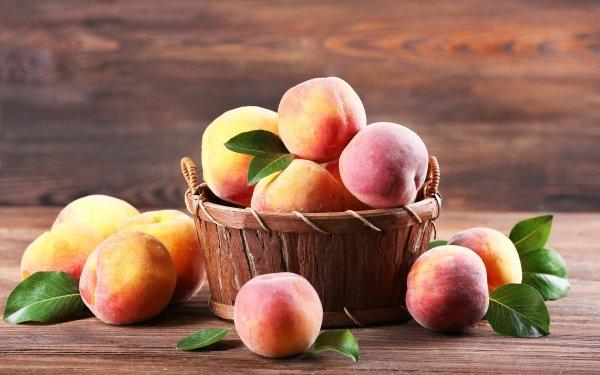 Food Peach Fruit Basket HD Wallpaper | Background Image