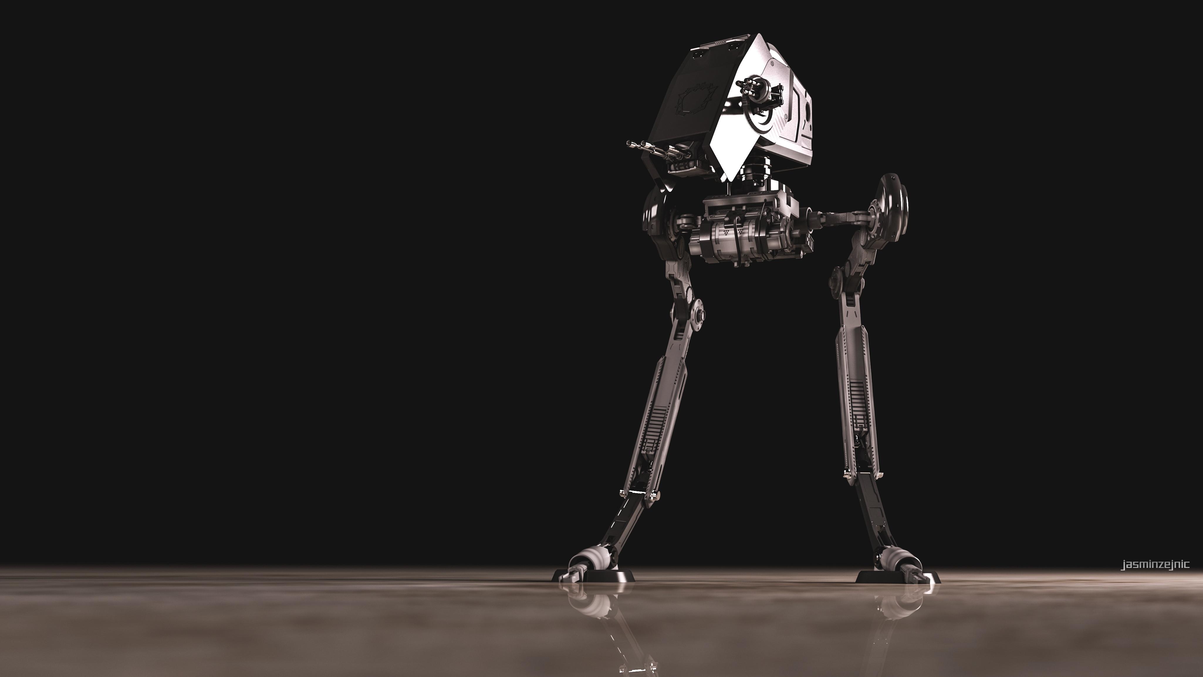 Wallpaper Star Wars Digital Art Robot 3d Render – Fondos de Pantalla