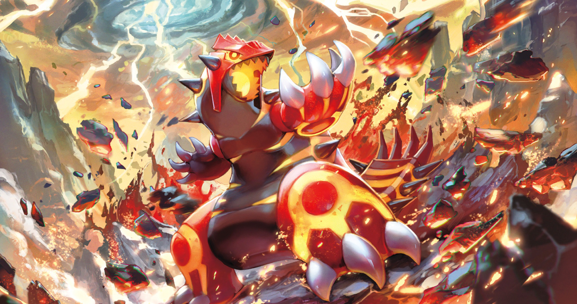 Anime - Pokémon  Primal Groudon (Pokémon) Legendary Pokémon Wallpaper