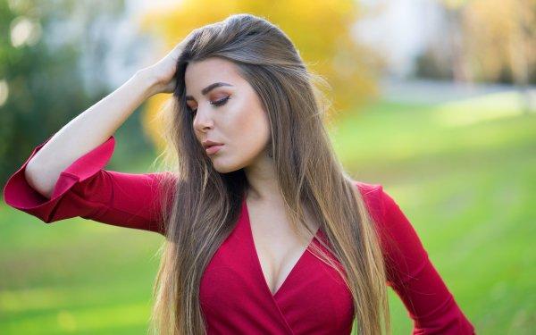 Women Model Models Depth Of Field Brunette HD Wallpaper   Background Image