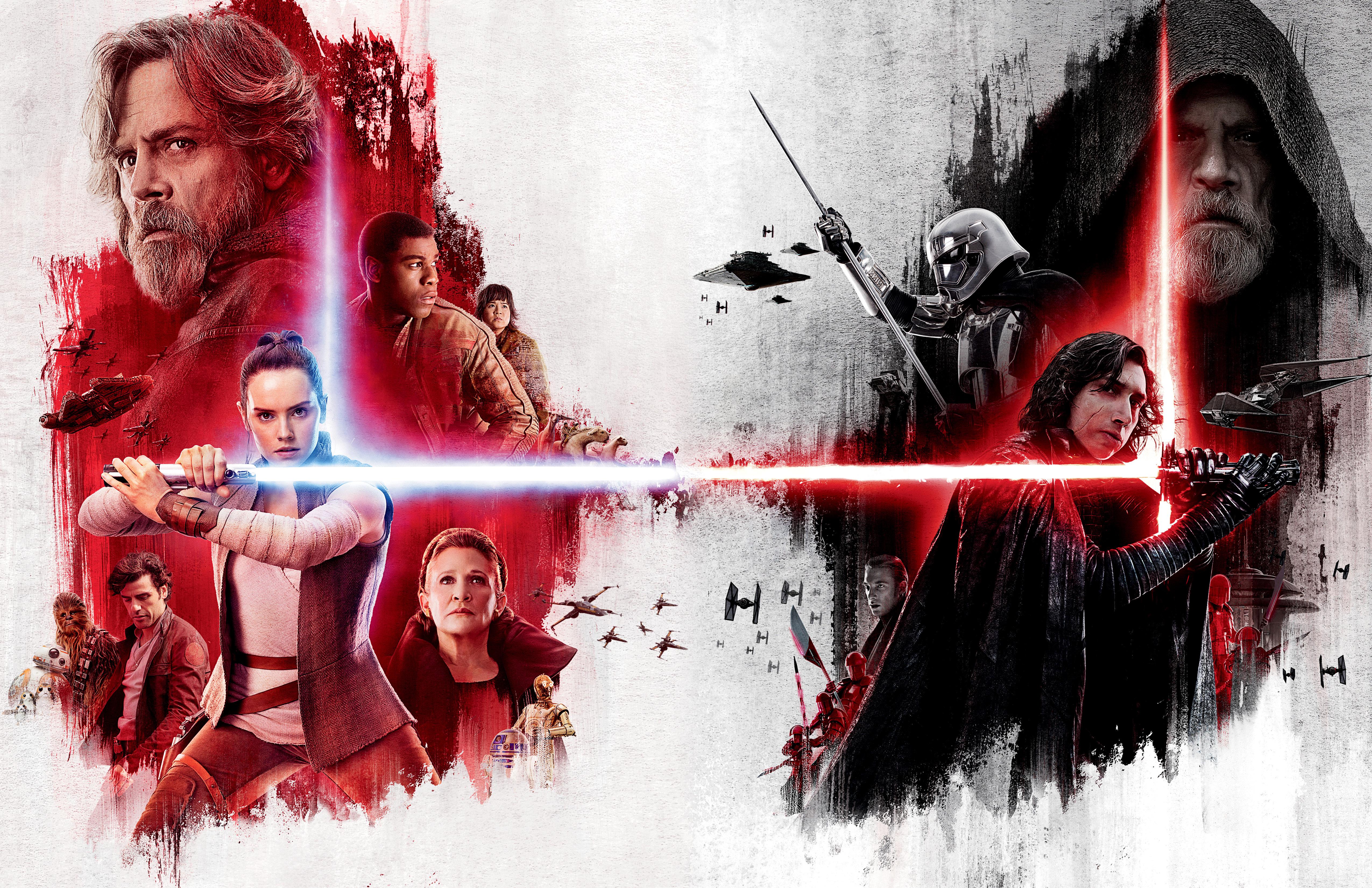 Star Wars The Last Jedi 4k Ultra Hd Wallpaper Background Image 5100x3300