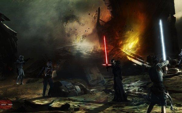 Movie Star Wars: The Last Jedi Star Wars Rey Kylo Ren Daisy Ridley Adam Driver HD Wallpaper | Background Image