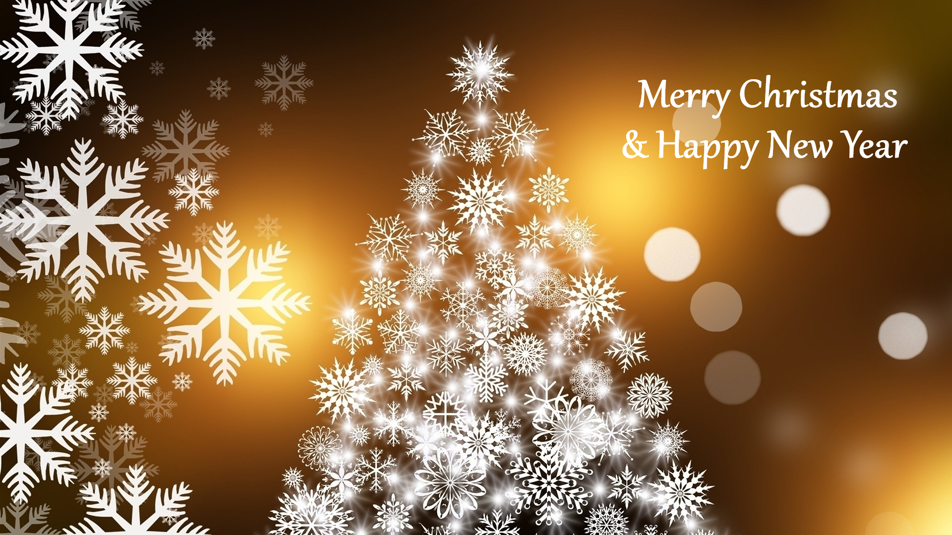 Holiday - Christmas  Merry Christmas Happy New Year Snowflake New Year Christmas Tree Wallpaper