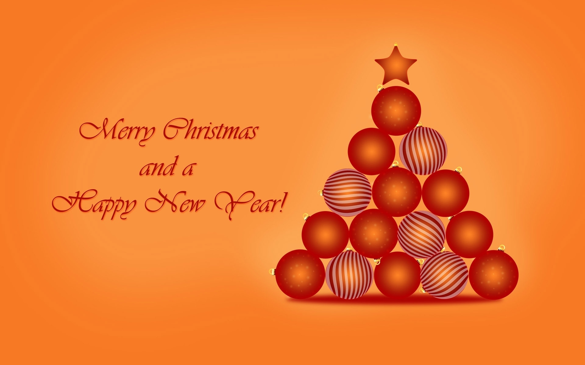 minimalist new year orange wallpapers id888389