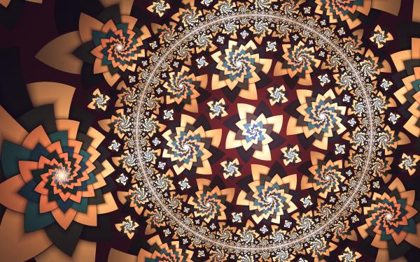 Abstract Fractal Artistic Circle Pattern Flower Digital Art HD Wallpaper | Background Image