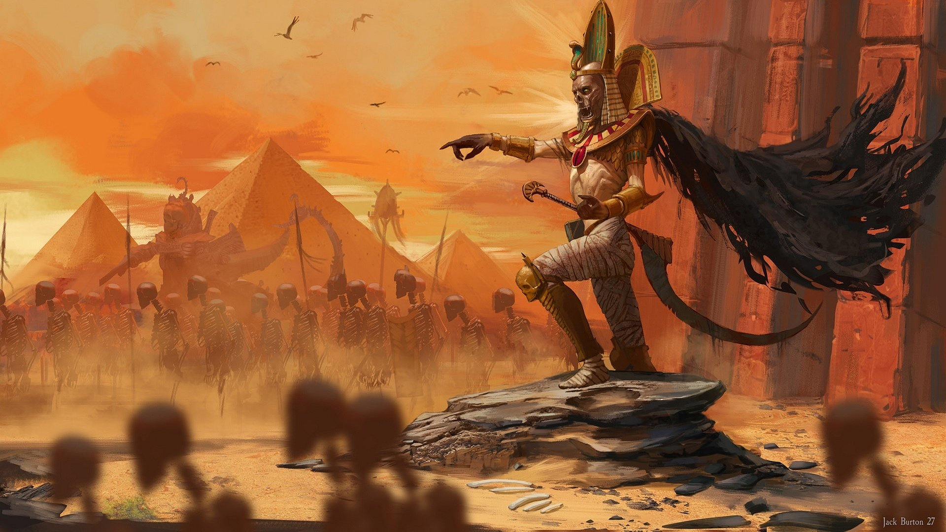Video Game - Total War: Warhammer II  Skeleton Tomb Kings Mummy Wallpaper