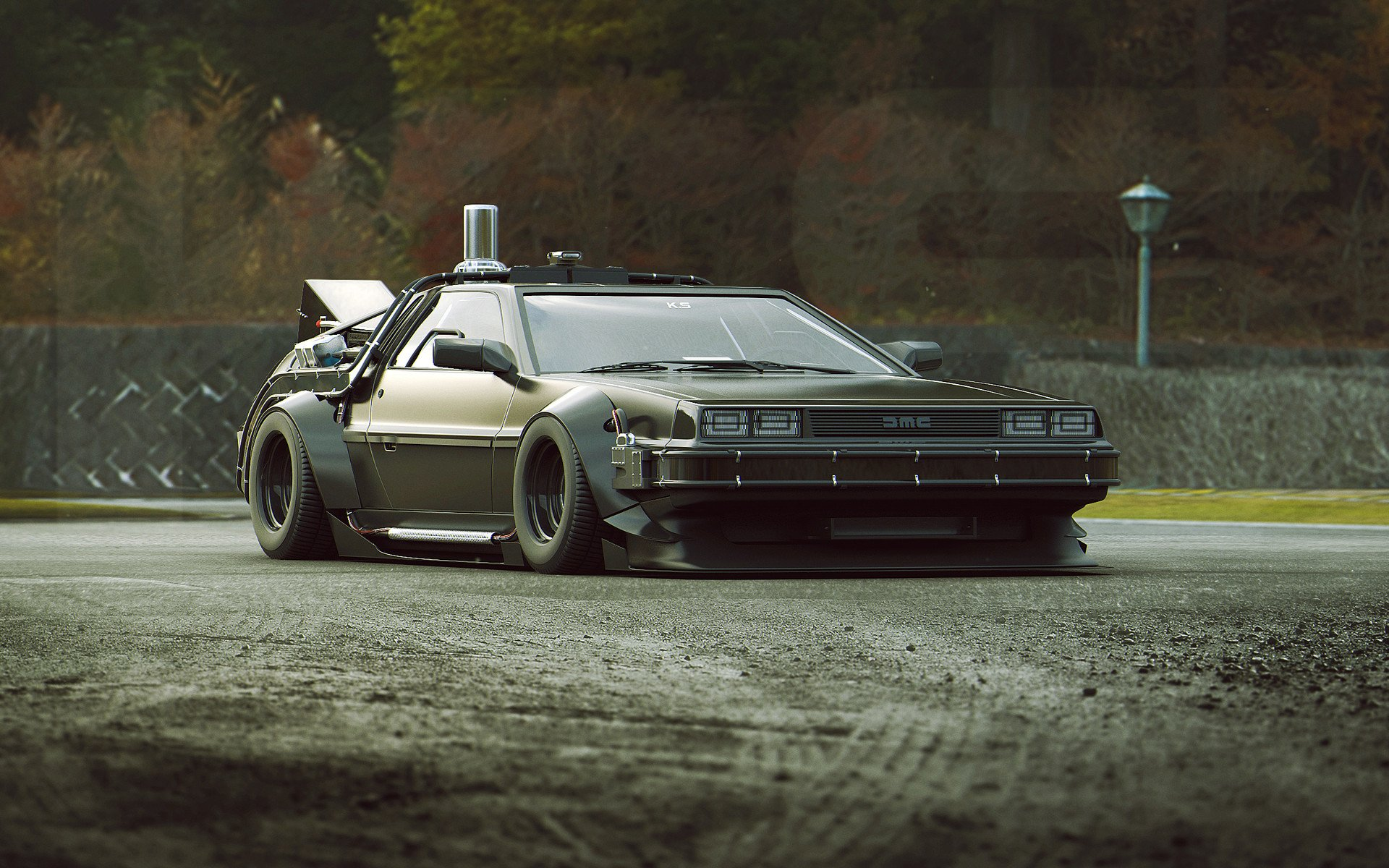Voertuigen - Delorean  Back To The Future Wallpaper