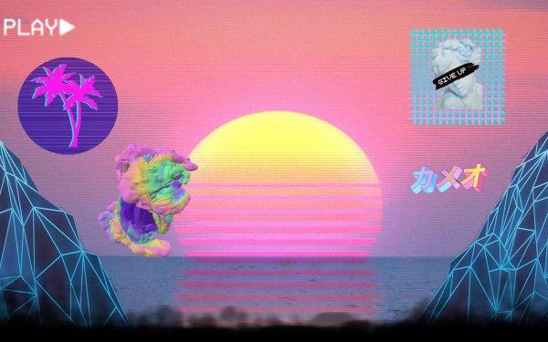Artistic Vaporwave Grid HD Wallpaper | Background Image