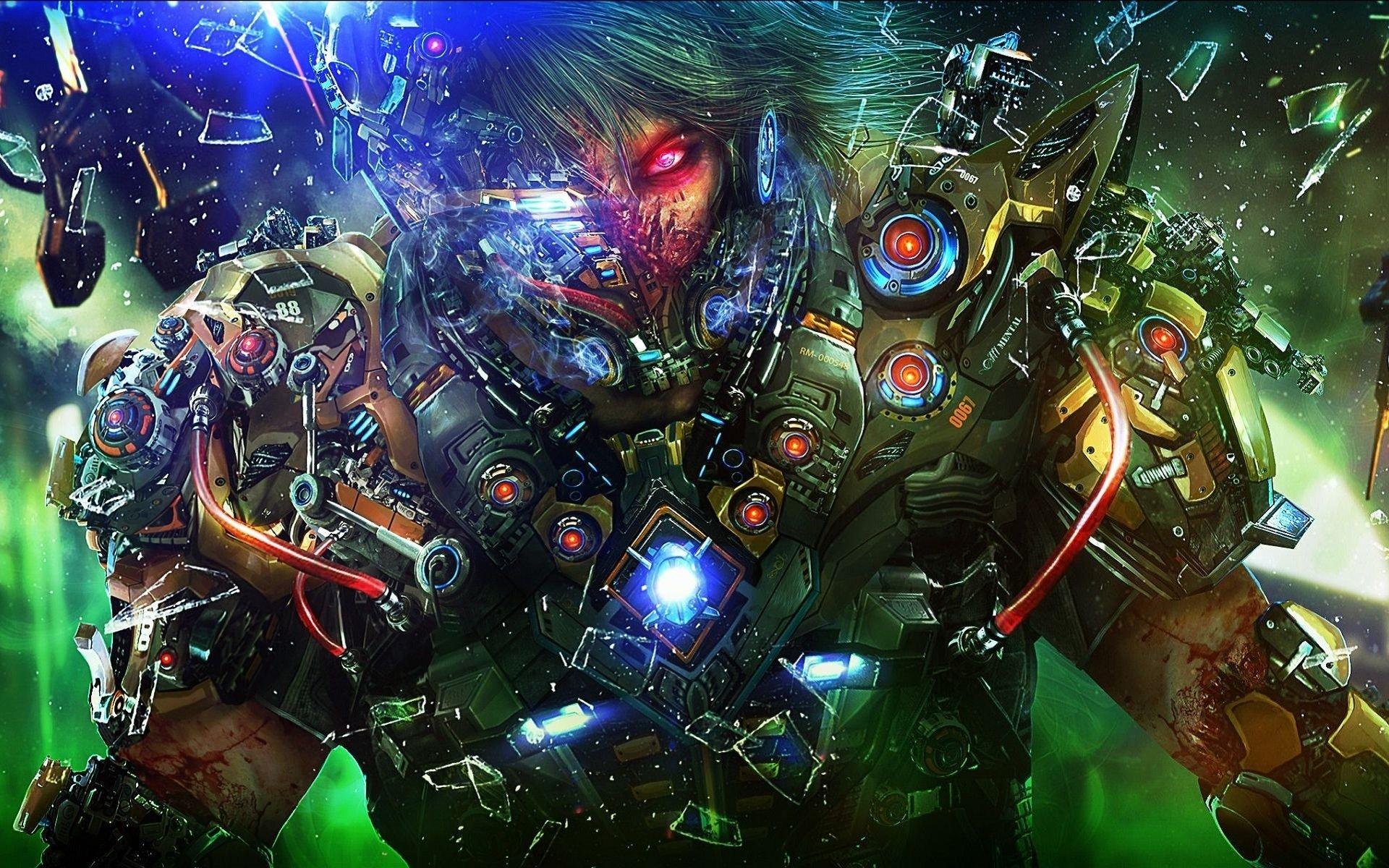 Ficção Científica - Guerreiro  Ficção Científica Ciborgue Papel de Parede
