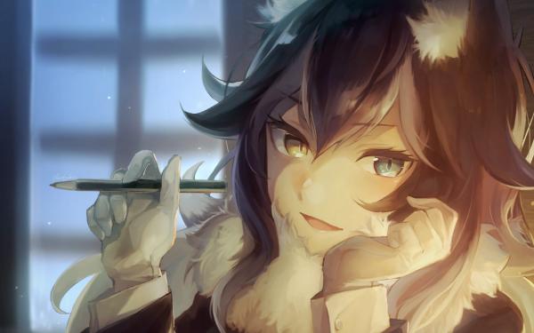 Anime Kemono Friends Gray Wolf HD Wallpaper   Background Image