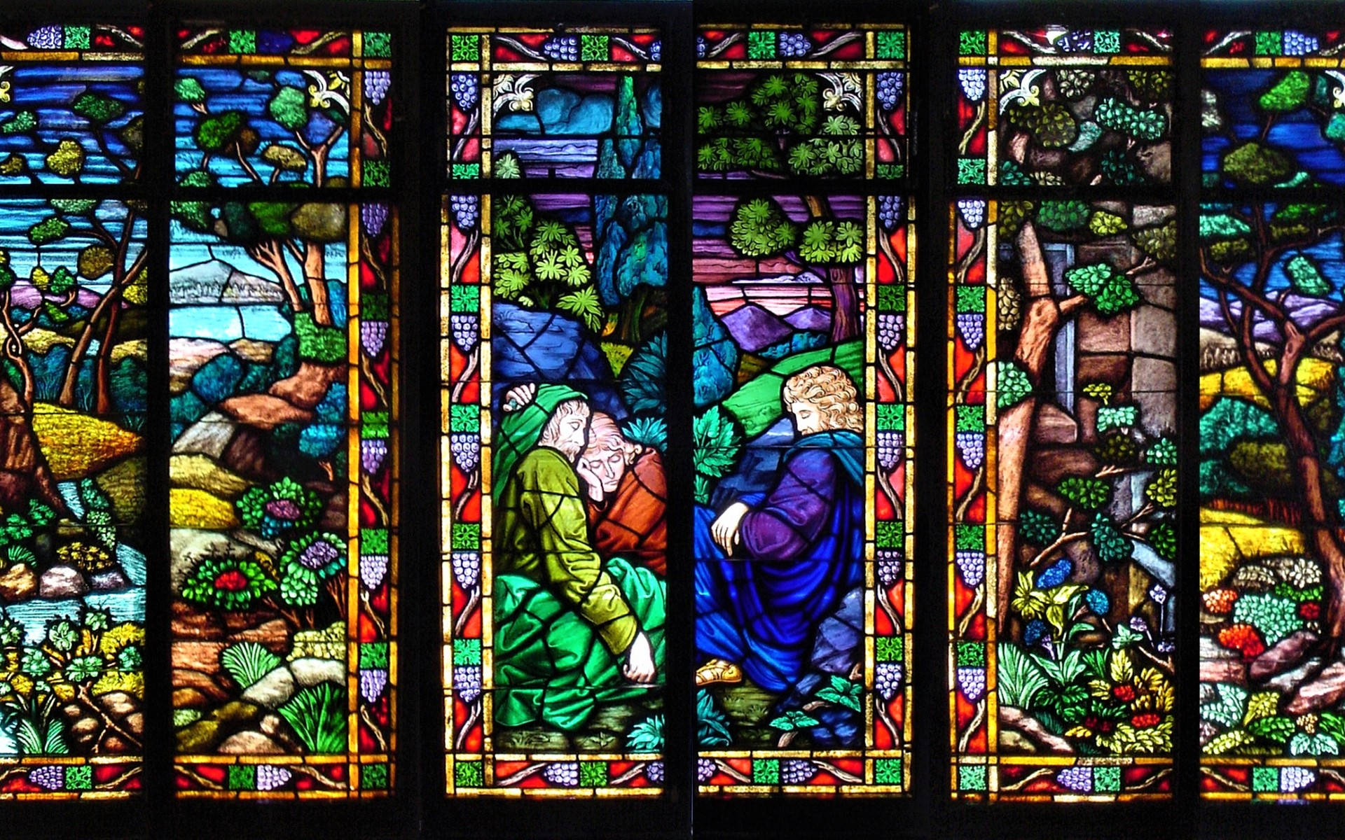 Stained Glass Windows Full HD Wallpaper And Background Image