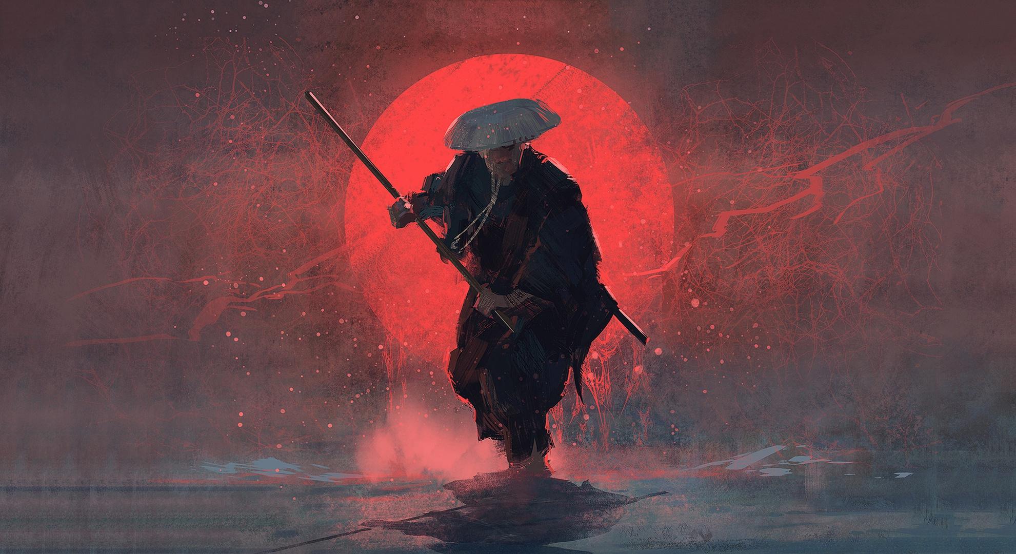 Samurai HD Wallpaper | Background Image | 1981x1080 | ID ...