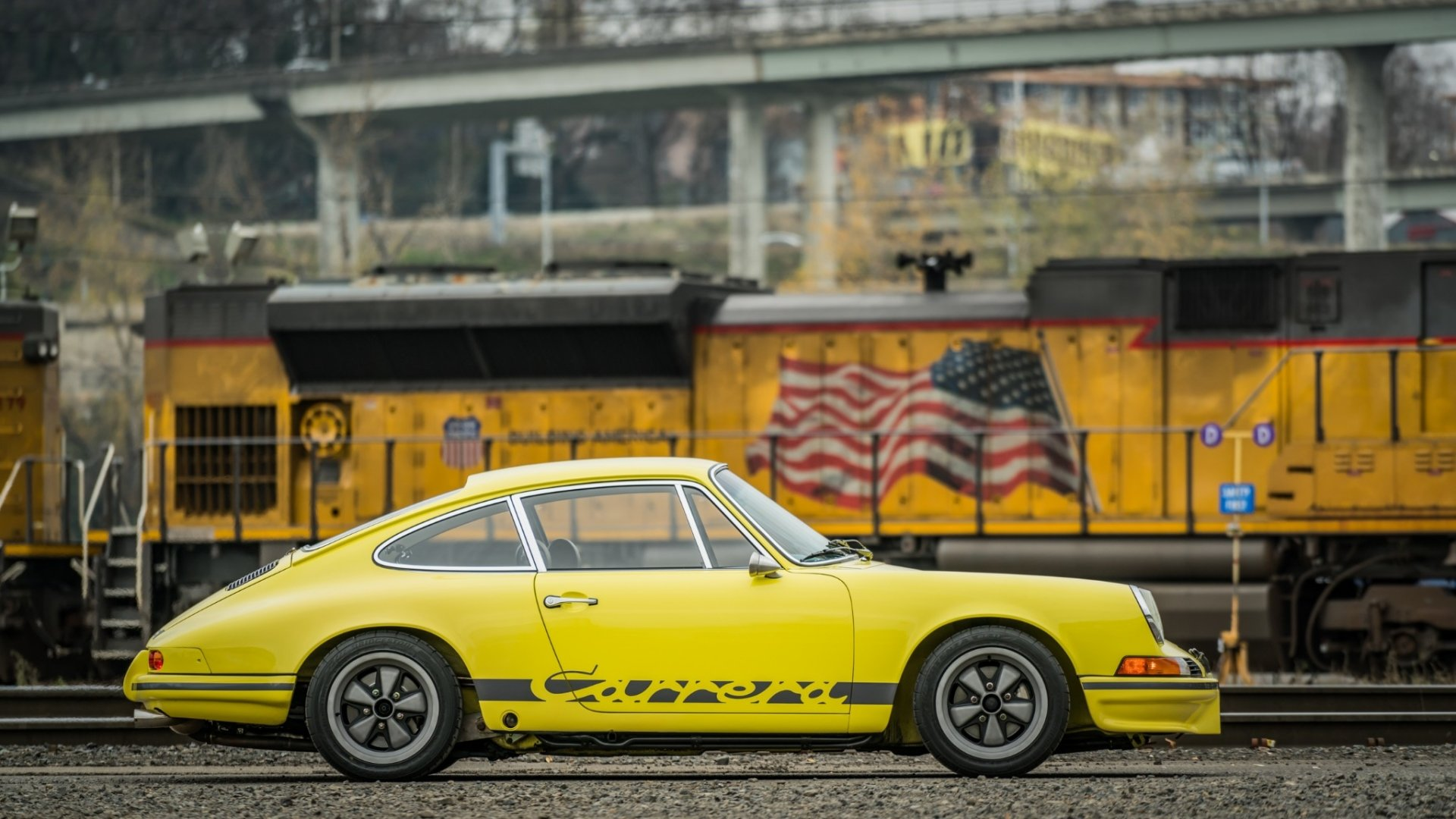Vehicles - Porsche 911 Carrera T  Sport Car Yellow Car Old Car Car Wallpaper