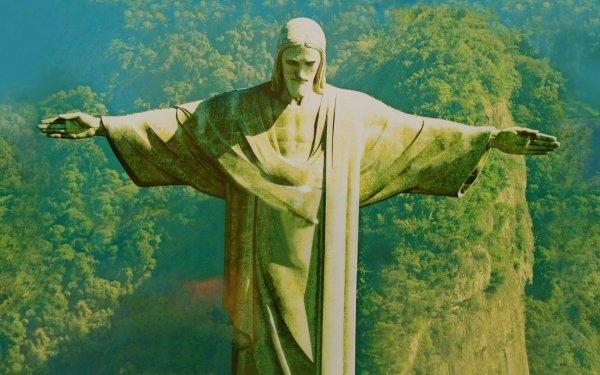 Religious Christ The Redeemer Corcovado Rio de Janeiro Brazil HD Wallpaper | Background Image
