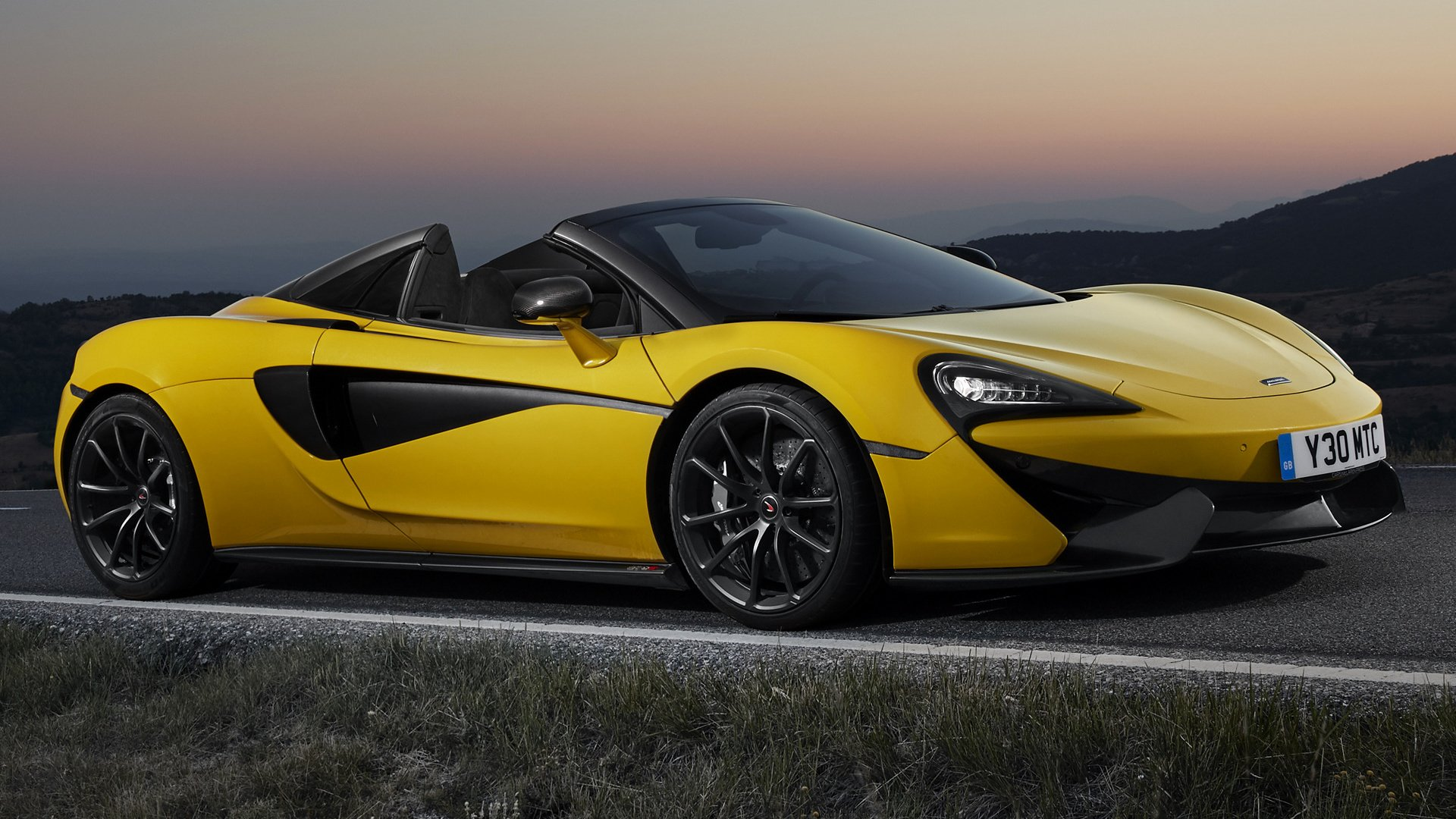 Vehicles - McLaren 570S Spider  Sport Car Supercar Yellow Car Car Wallpaper