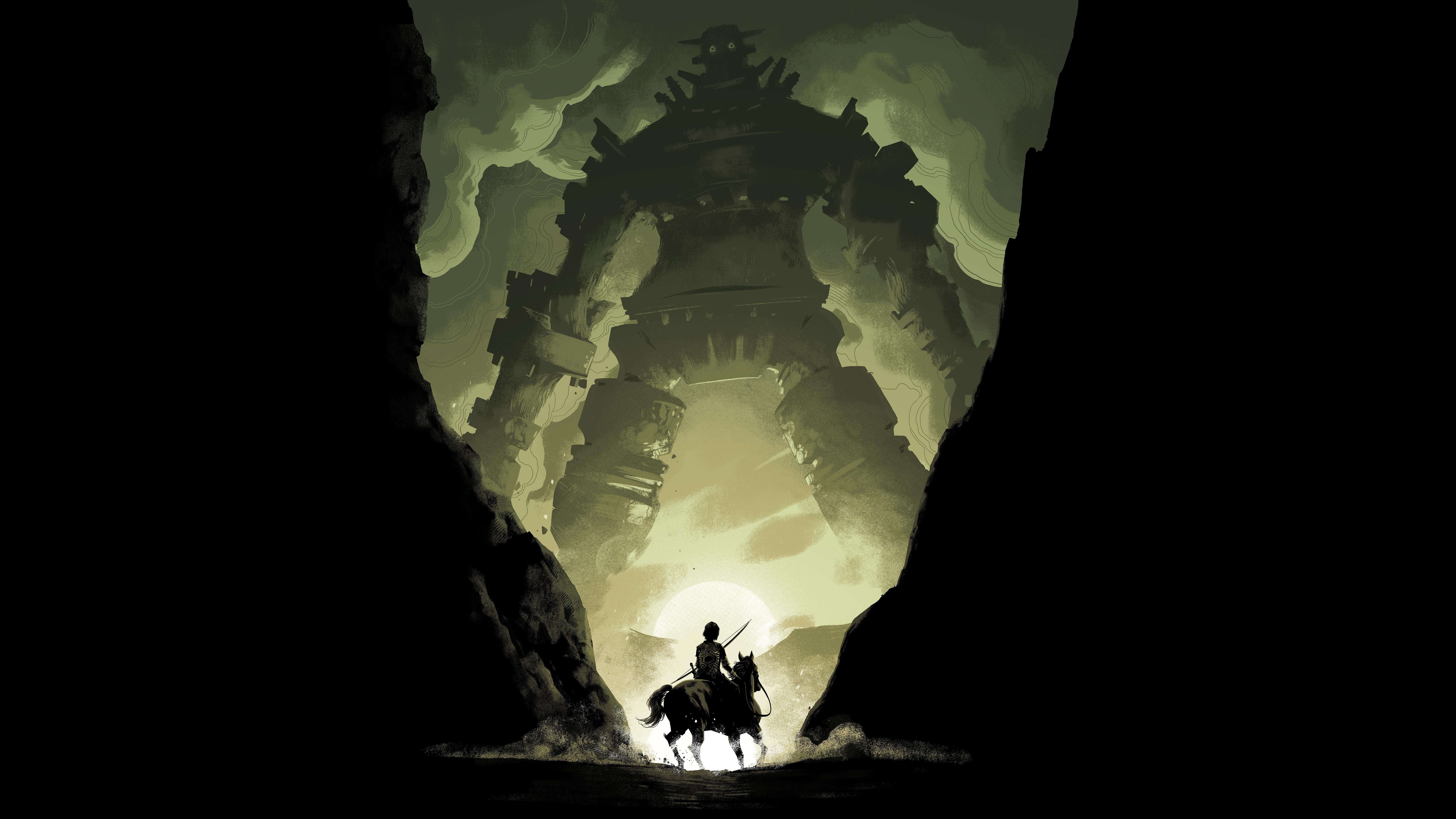 Shadow Of The Colossus 2018 8k Ultra Fondo De Pantalla Hd