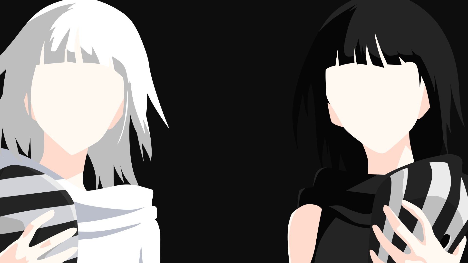 One Eyed Ghoul Twins - Tokyo Ghoul Minimalist HD Wallpaper ...