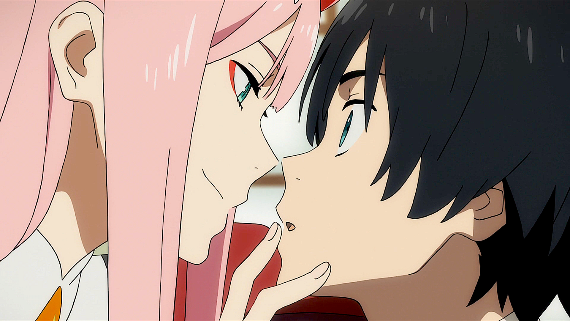 动漫 - Darling in the FranXX  Zero Two (Darling in the FranXX) Hiro (Darling in the FranXX) Green Eyes Pink Hair 动漫 壁纸