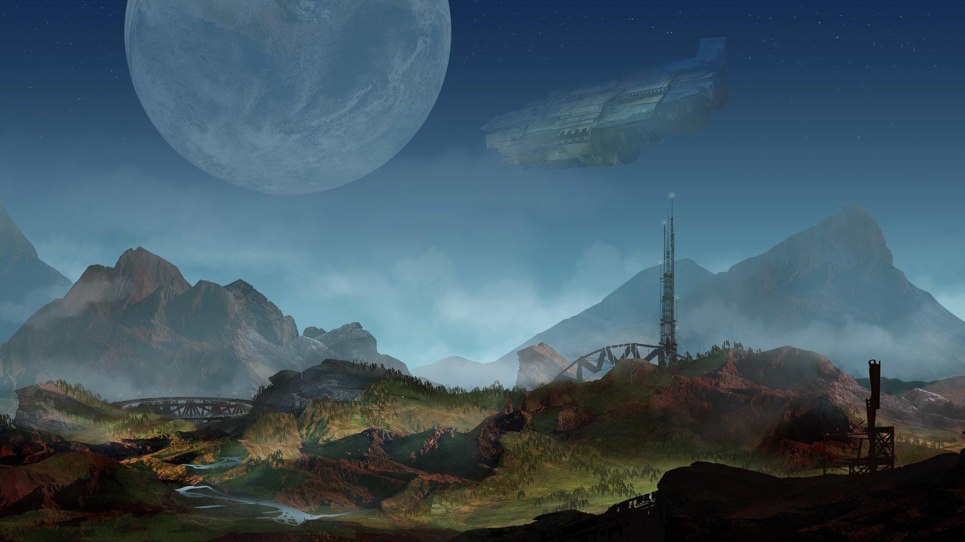 Video Game - Defense Grid 2  Spaceship Planet Landscape Wallpaper