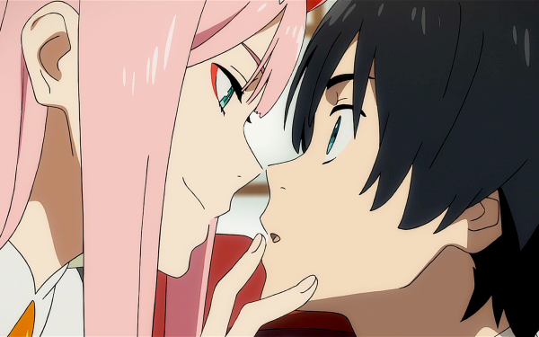 Anime Darling in the FranXX Zero Two Hiro Pink Hair HD Wallpaper | Background Image