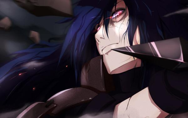 Anime Naruto Madara Uchiha Uchiha Clan Long Hair Ninja Rinnegan Blue Hair HD Wallpaper   Background Image
