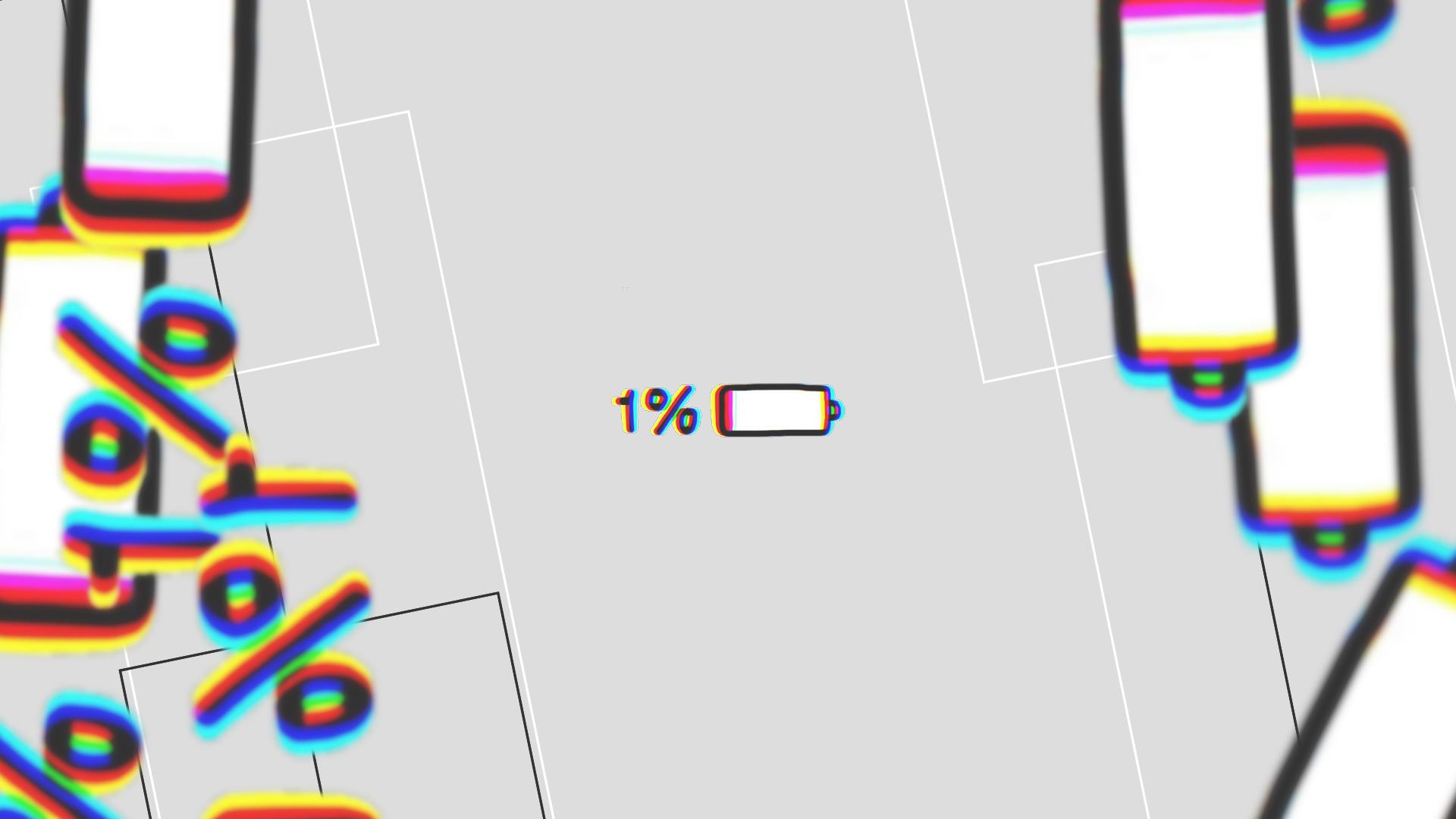 Papel De Parede 1920x1080 Full Hd: Glitch Battery Desktop Wallpaper Full HD Papel De Parede
