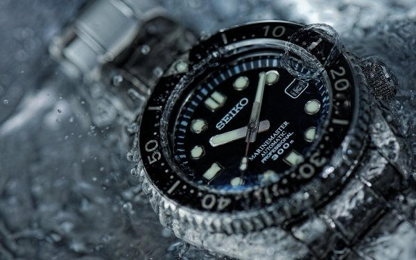 Man Made Watch Close-Up Water Seiko HD Wallpaper | Background Image