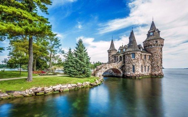 Man Made Boldt Castle Castles United States Heart Island Castle New York USA HD Wallpaper | Background Image