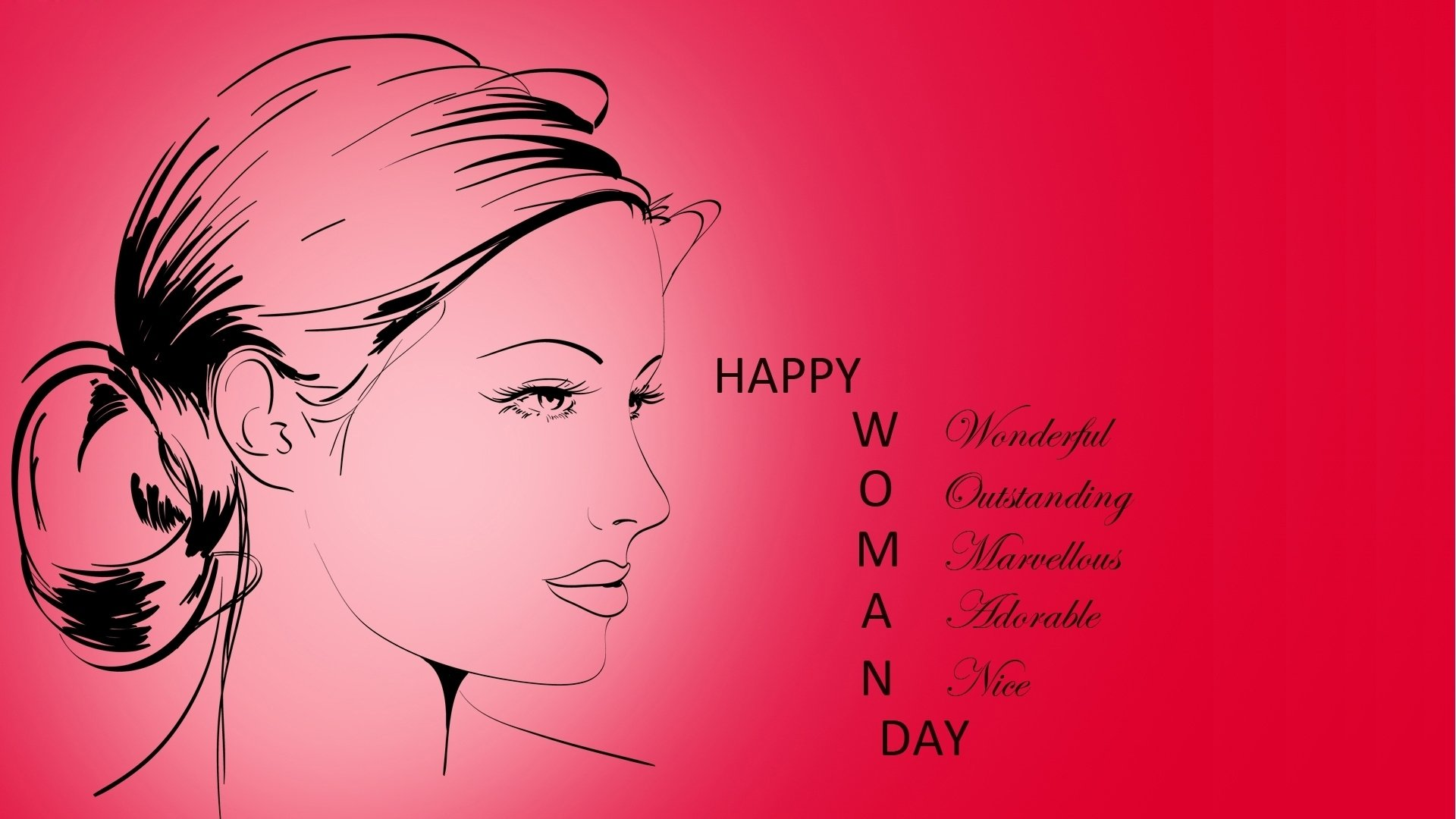 Holiday - Women's Day  Happy Women's Day Face Woman Girl Statement Wallpaper