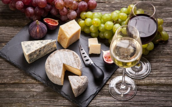 Food Still Life Cheese Fig Grapes Fruit Wine Glass HD Wallpaper | Background Image