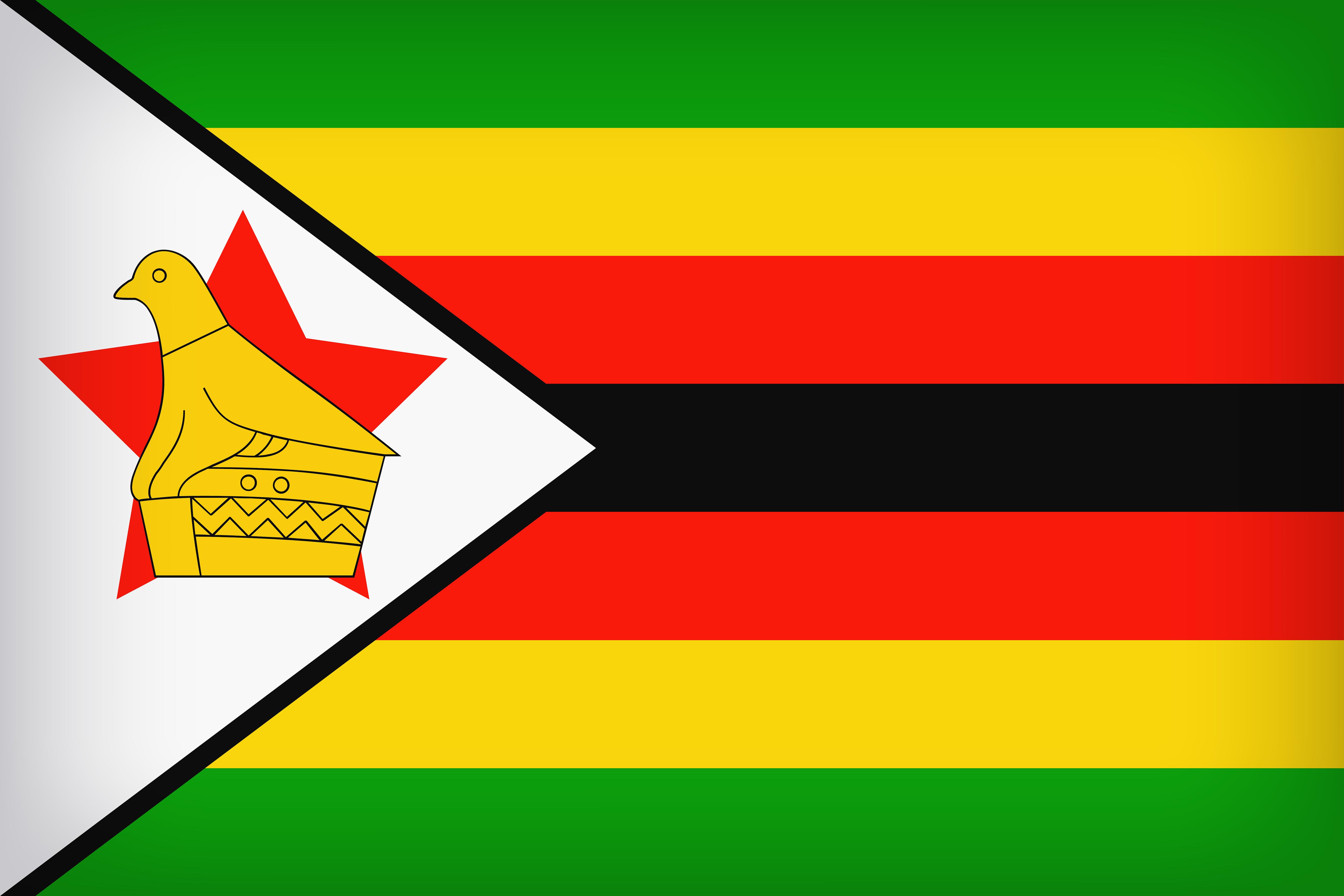 The National Flag Of Zimbabwe 4k Ultra Fondo De Pantalla Hd