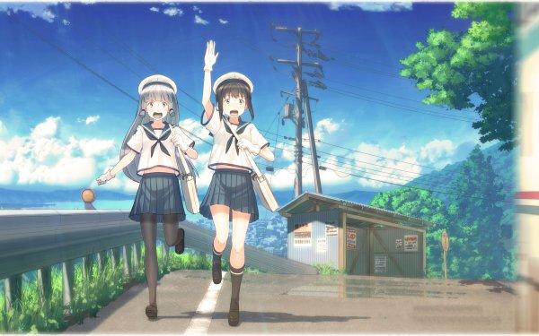 Anime Kantai Collection Fubuki Murakumo HD Wallpaper   Background Image