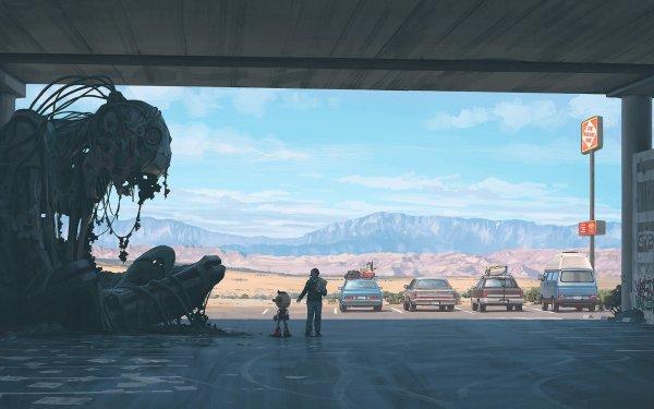 Sci Fi Robot Parking Garage Futuristic HD Wallpaper | Background Image