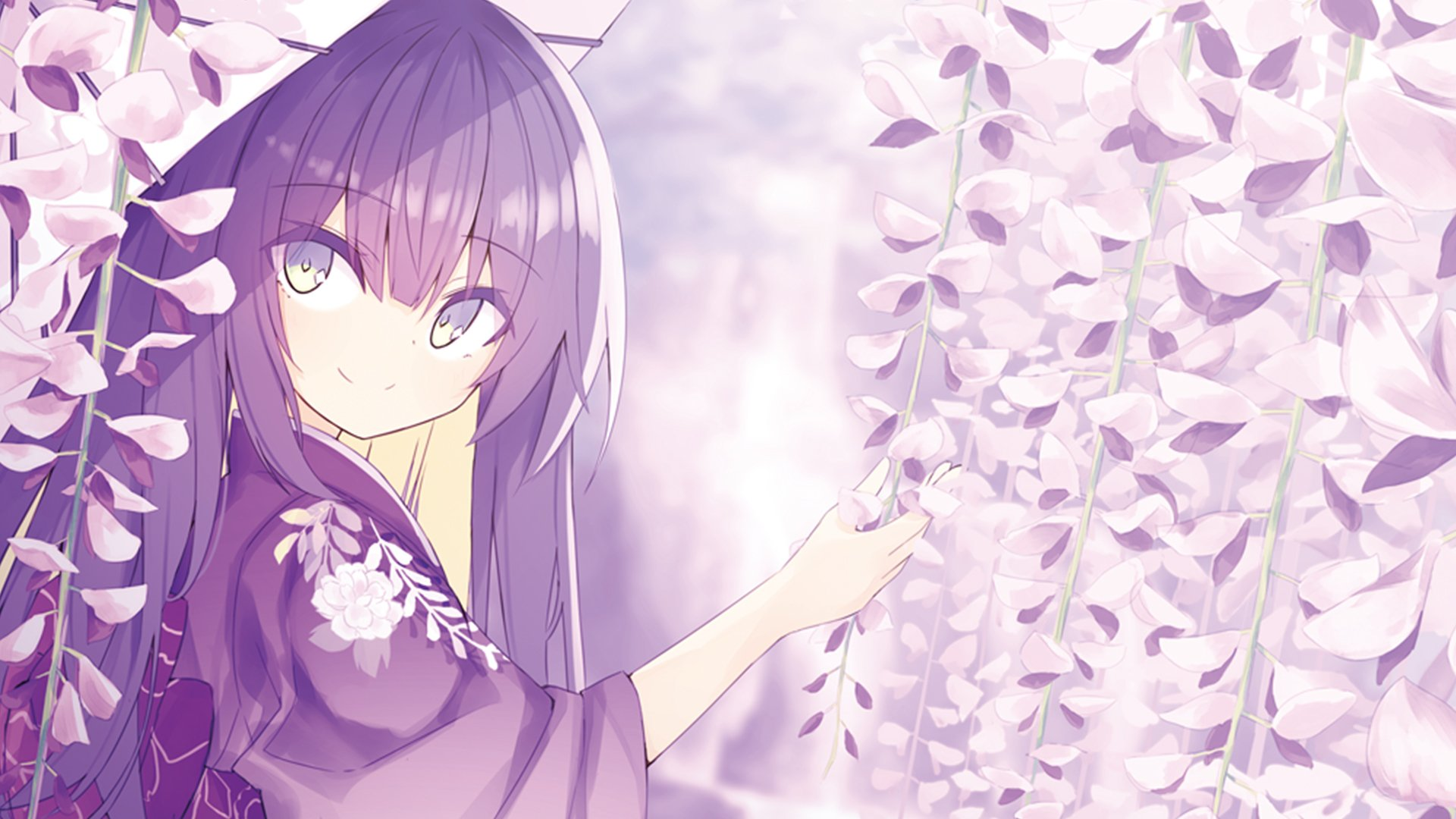 Anime girl cherry blossom hd wallpaper background image - Anime cherry blossom wallpaper ...