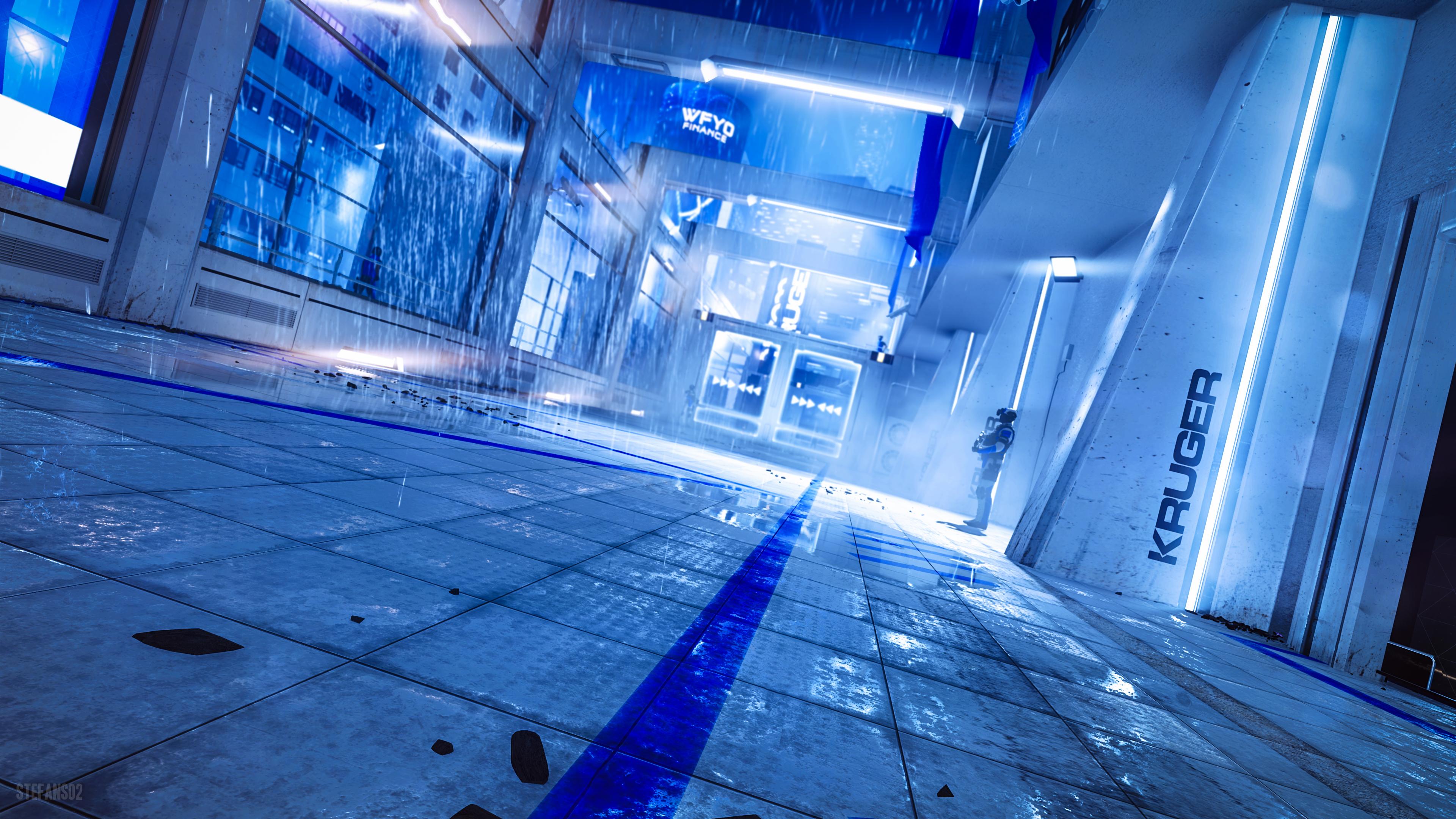 Mirror S Edge Catalyst Raining At Kruger S 4k Ultra Hd Wallpaper