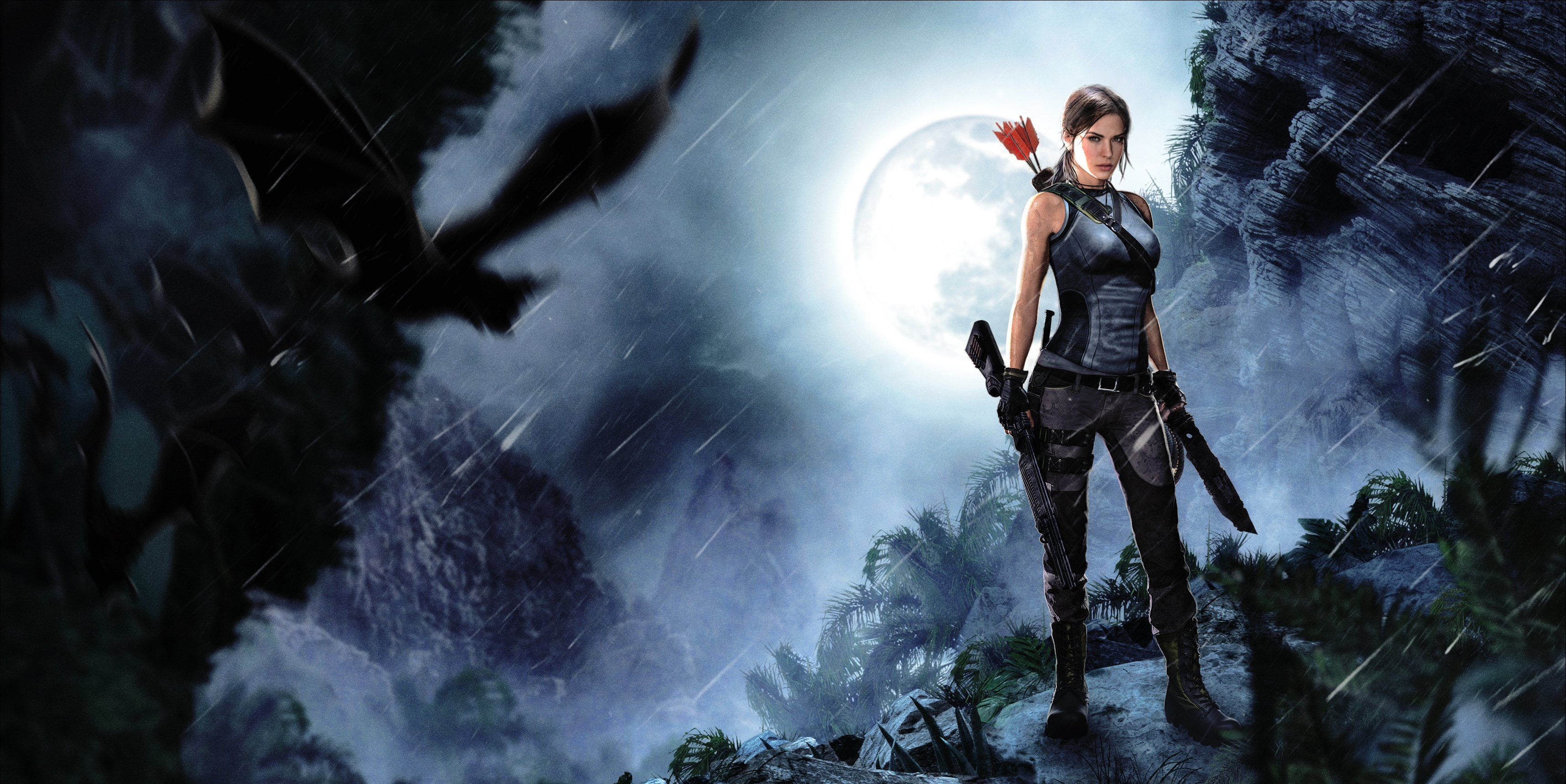 Tomb Raider 2013 Hd Wallpaper Background Image 3433x1719 Id 920915 Wallpaper Abyss
