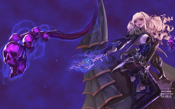 Video Game Dungeon Fighter Online Blonde Skull Magic HD Wallpaper | Background Image