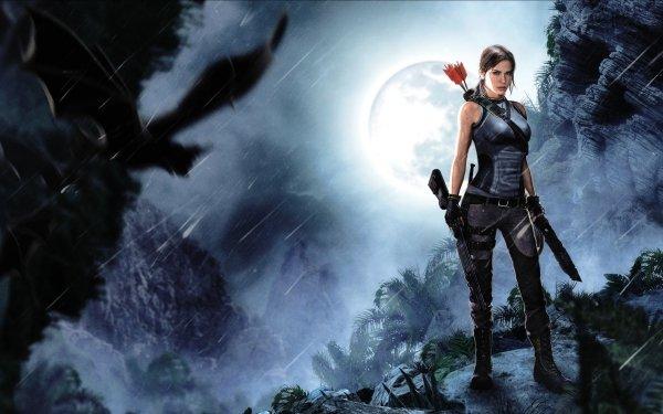Video Game Tomb Raider (2013) Tomb Raider Lara Croft Woman Warrior Moon HD Wallpaper | Background Image