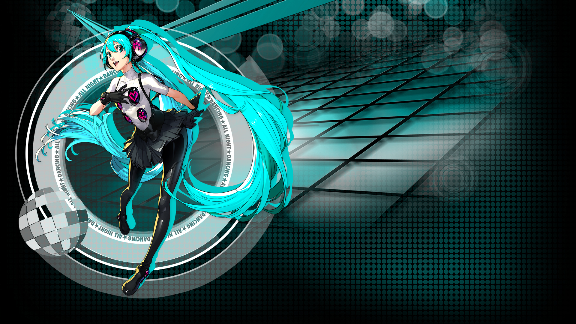 Persona 4 Dancing All Night Hatsune Miku Hd Wallpaper