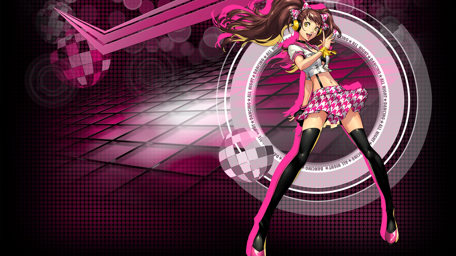 Persona 4 Dancing All Night Rise Kujikawa Hd Wallpaper