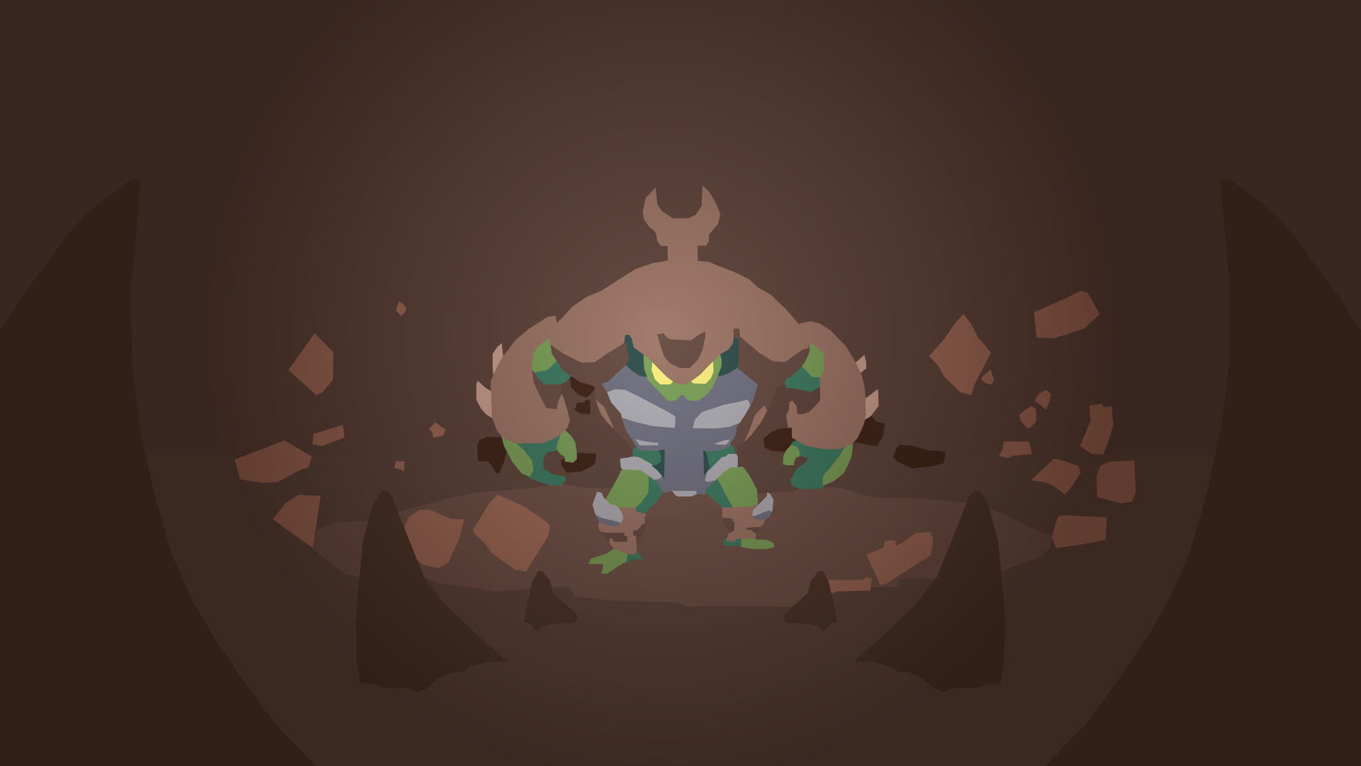 Rivals Of Aether Kragg Minimalist Hd Wallpaper Background Image