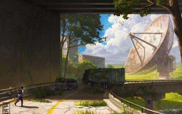Science Fiction Post Apocalyptique Antenna Fond d'écran HD | Image